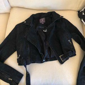 Black denim jacket
